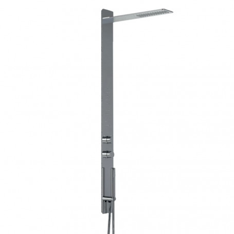 Shower Column Stainless Steel 011 For Cash Lucida 3 Functions 2 Lumbar Hydro Jets P50xL12xH140