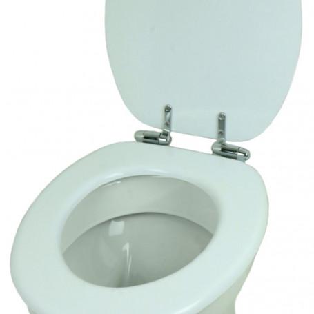 Ogomondo Sedile Copri Water Universale Bianco MDF Legno Chiusura Rallentata