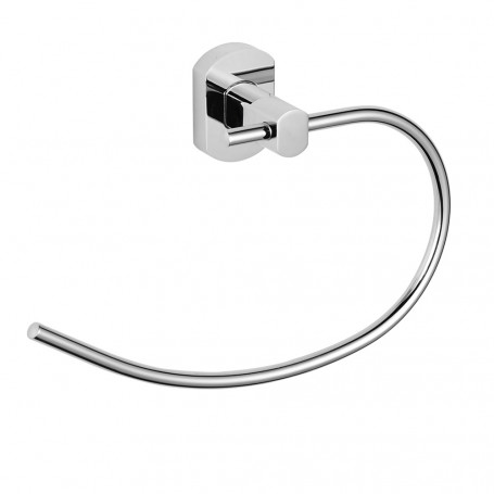 Ring port Towels Wipes Shape Round Salvaspazio Brass Chrome Bathroom Accessories