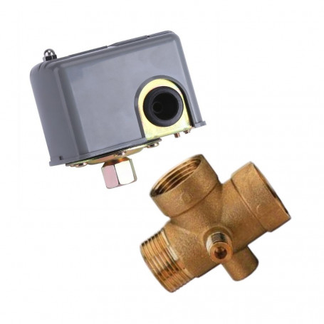 Single phase 230V pressure switch for electric + fitting Brass 5 Vie connection M 1 '