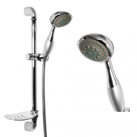 Auction Sliding Shower 010 Complete hand shower 5 Functions Anticalcare power H 75 CM