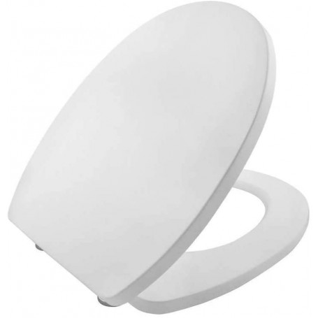 Toilet Seat Cover Water Tablet Universal Vase White Polypropylene PP System Soft Closing Bathroom