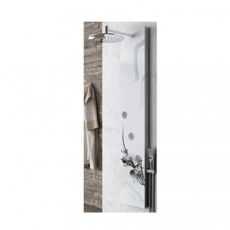 Aluminum Shower Column 018 3 Functions 3 Lumbar Hydro Jets With Crystal L25xP46xH130