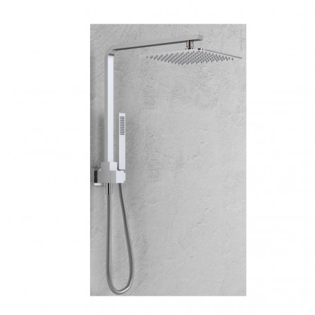 Trap Shower Equipped Brass Chrome 021 overhead shower panel P46xH45