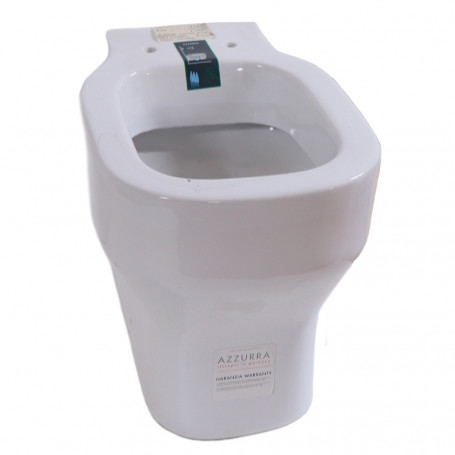Ceramic Sanitary A Floor Wire Wall Vase + WC + Bidet Seat Made in Italy