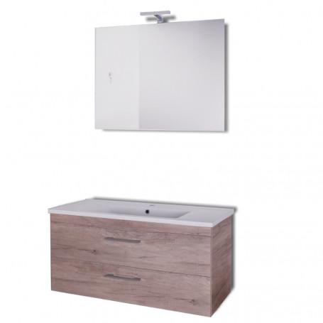 Mobile da bagno sospeso Spring  Corda con lavabo specchio MADE IN ITALY