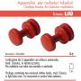 Pika Shop Appendini per Termoarredo Modello Liu' Rosso Confezione da 2 Pezzi