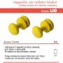 Pika Shop Appendini per Termoarredo Modello Liu' Giallo Confezione da 2 Pezzi