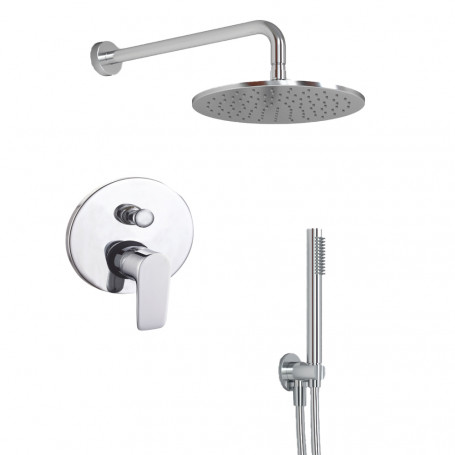 Shower Kit Round 2 Complete Arm Overhead shower water outlet Lace PVC Bathroom