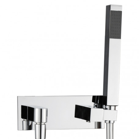 Kit Shower set Brass Chrome Support Full Socket Water With Flexible E Quadra shower
