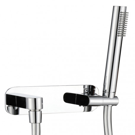 Kit Shower set Brass Chrome Support Full Socket Water With Flexible And Rounded shower