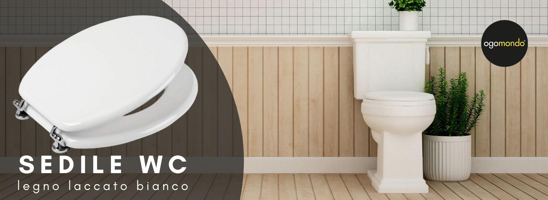 Sedile WC in legno bianco